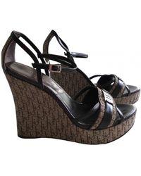 Dior Cloth Sandals - Natural
