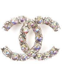 Chanel Spilla in metallo multicolore