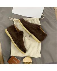 Loro Piana Brown Suede Boots - Multicolor