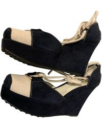 Tod's Leather Sandal - Blue