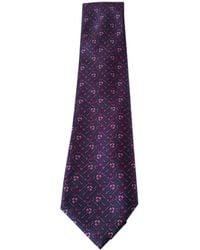 Chanel Purple Silk Tie