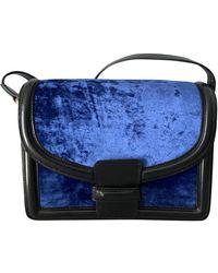 Dries Van Noten Velvet Crossbody Bag - Blue