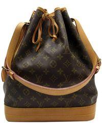 Louis Vuitton Noé Leather Handbag - Brown