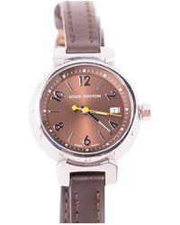 Louis Vuitton - Tambour Brown Steel Watches - Lyst