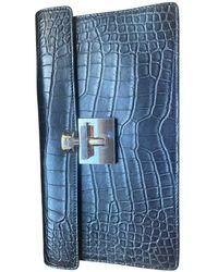 Oscar de la Renta Leather Bag - Blue