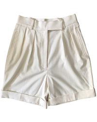 Olympia Le-Tan Shorts in Cotone Bianco