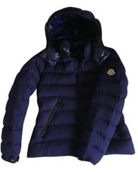 Moncler Classic Wolle Anorak - Blau