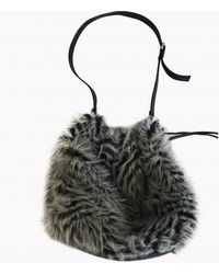 Marc By Marc Jacobs Grey Faux Fur Handbag - Multicolour