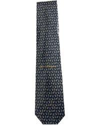 Ferragamo Seide Krawatten - Blau
