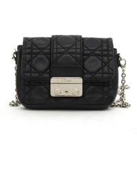 Dior - Pre-owned Miss Black Leather Handbags - Lyst