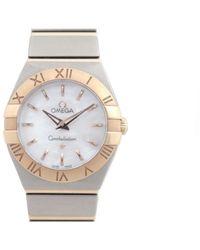 Omega Reloj en oro y acero plateado Constellation - Multicolor