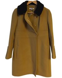 Carven \n Camel Wool Coat - Multicolour