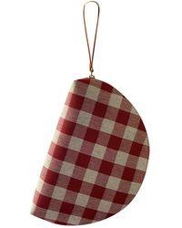 Mansur Gavriel Moon Clutch Bag - Red