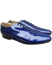 Acne Studios - Blue Leather Lace Ups - Lyst