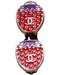 Chanel Boucles d'oreilles CC en Métal - Multicolore