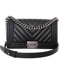 Chanel Boy Leder Handtaschen - Schwarz