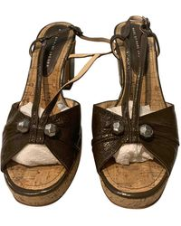 Marc By Marc Jacobs Patent Leather Sandals - Brown