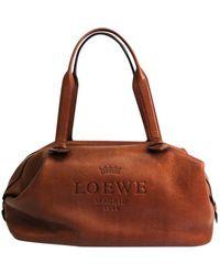 Loewe Leather Travel Bag - Brown