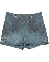 Chanel Blue Cotton Shorts