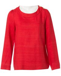Chloé - \n Red Linen Top - Lyst
