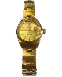 Rolex Datejust 36mm Gelbgold Uhren - Mehrfarbig