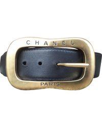 Chanel - Vintage Black Leather Belts - Lyst