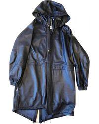 Loewe Leather Parka - Blue