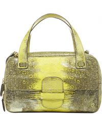 425f8fde0f Saint Laurent Canary Yellow Leather Oversized Large Tote with ...