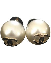 Chanel Perle Ohrringe - Weiß