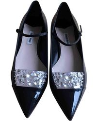 Miu Miu | Pre-owned Leather Ballet Flats | Lyst