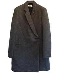 Victoria Beckham - Grey Cotton Coat - Lyst