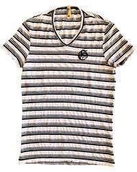 John Galliano - Grey Viscose T-shirt - Lyst
