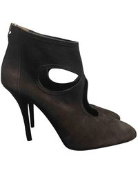Aquazzura Sexy Thing Leather Heels - Brown