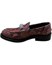 CALVIN KLEIN 205W39NYC Python Flats - Pink