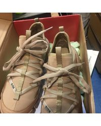 Dior D Connect Leinen Sneakers - Natur