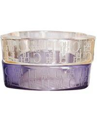 Carolina Herrera Purple Plastic Bracelet