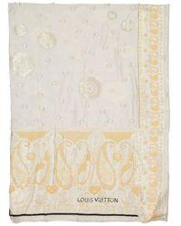 Louis Vuitton Schal Baumwolle Ecru - Natur