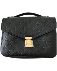 Louis Vuitton Borsa a mano in pelle nero Metis