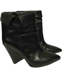 Isabel Marant - Luliana Black Leather Ankle Boot - Lyst