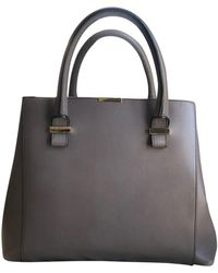 Victoria Beckham Quincy Leather Handbag - Grey