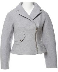 Carven - Grey Wool Jacket - Lyst