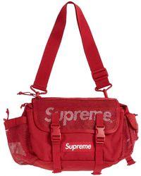 Supreme Leinen Taschen - Rot