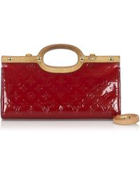 Louis Vuitton Bolsa de mano en charol rojo Roxbury