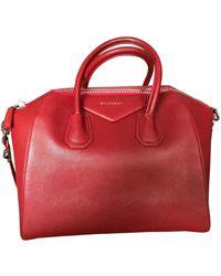 Givenchy Bolso Antigona de Cuero - Rojo