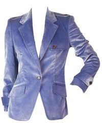 Carolina Herrera \n Blue Cotton Jacket