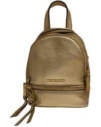 Michael Kors Rhea Gold Leather Backpack - Multicolour