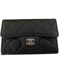 Chanel Porte-monnaie Timeless/Classique en cuir - Noir