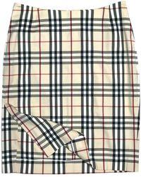 Burberry Mid-length Skirt - Natural
