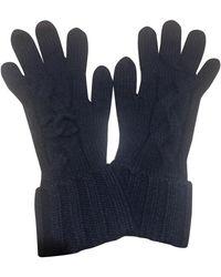 Chanel Navy Cashmere Gloves - Blue