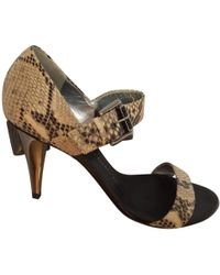 Giuseppe Zanotti - Pre-owned Python Print Exotic Leathers Sandals - Lyst
